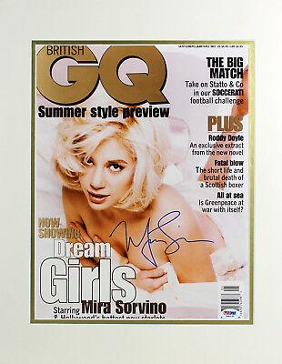 Mira Sorvino Authentic Signed Matted Gq Magazine Cover Photo Psa Dna  J00131