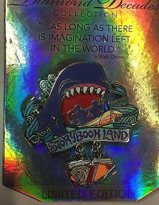 Disneyland 60th Diamond Decades Collection Storybook Land Monstro LE Disney Pin