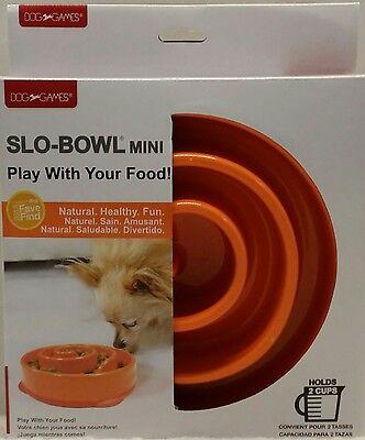 Kyjen Dog Games Slo-Bowl Mini New, Orange  Keep Dogs Healthy, Active & Engaged