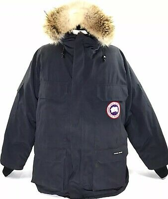 Canada Goose Mens Expedition Parka Down Coyote Fur Ruff Authentic Blue XXL Canada Goose Expedition Parka