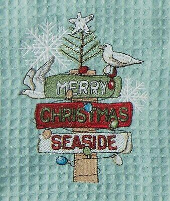 Kay Dee Designs Merry Christmas Seaside Waffle Towel One Siz
