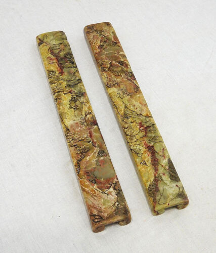 Pair of Carved Chinese Shou-Shan Stone Paper Press   4324