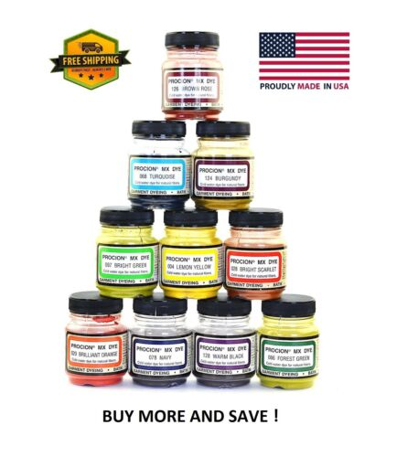 Jacquard Procion MX Dye  2/3 Oz Bottle -Mix And Match Colors- Buy More And Save