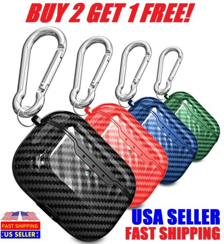 For Apple AirPods Pro Wireless Charging Case Carbon Fiber Shockproof Cover lot Cases, Covers & Skins