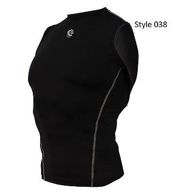 038 Black Sleeveless Shirt