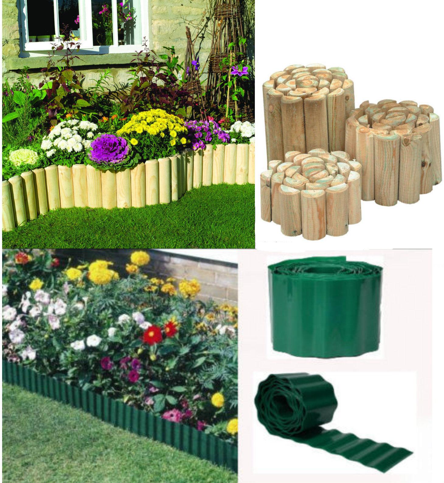 Green Plastic Garden Grass Lawn Edge Edging Border Fence