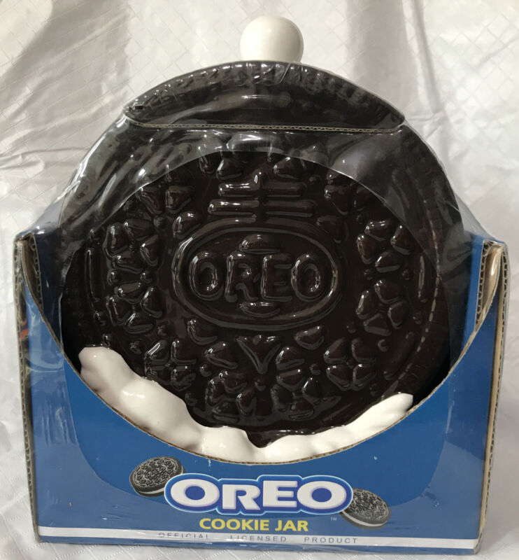 Nabisco Oreo Cookie Shaped Cookie Jar Houston Harvest Gifts New