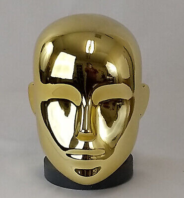 Less Than Perfect F Chrome Gold Female Mannequin Head Attachment Pierced Ears