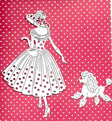 NEW TATTERED LACE EMMA & PERDY  DIE CUTS -  LADY TOPPER-/CHRISTMAS/GIRL/MOTHER