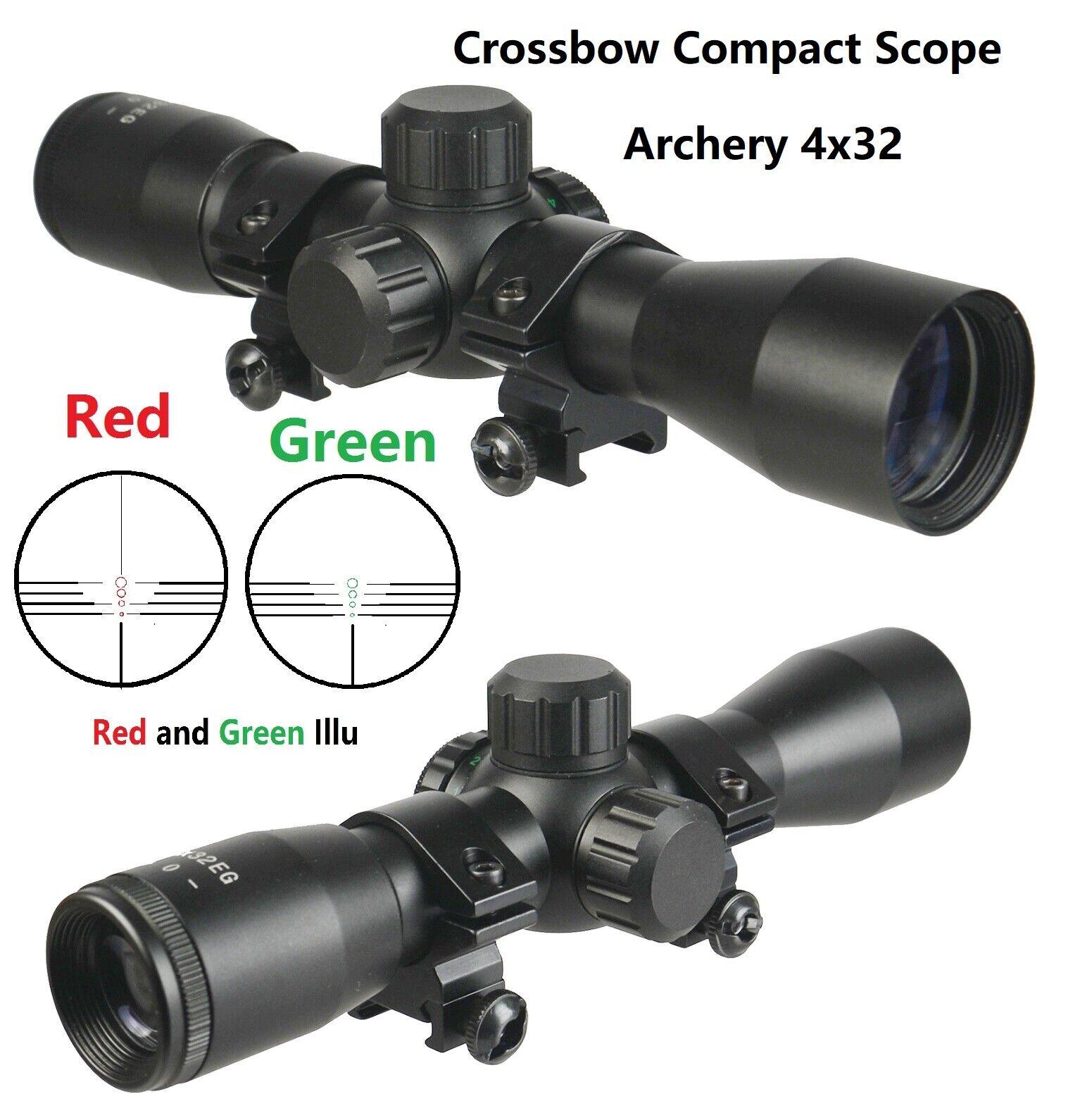 TWP Archery 4X32 Compact Crossbow Multi Range Reticle Scope