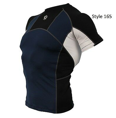 165 Navy w/Black Short Sleeve Shirt