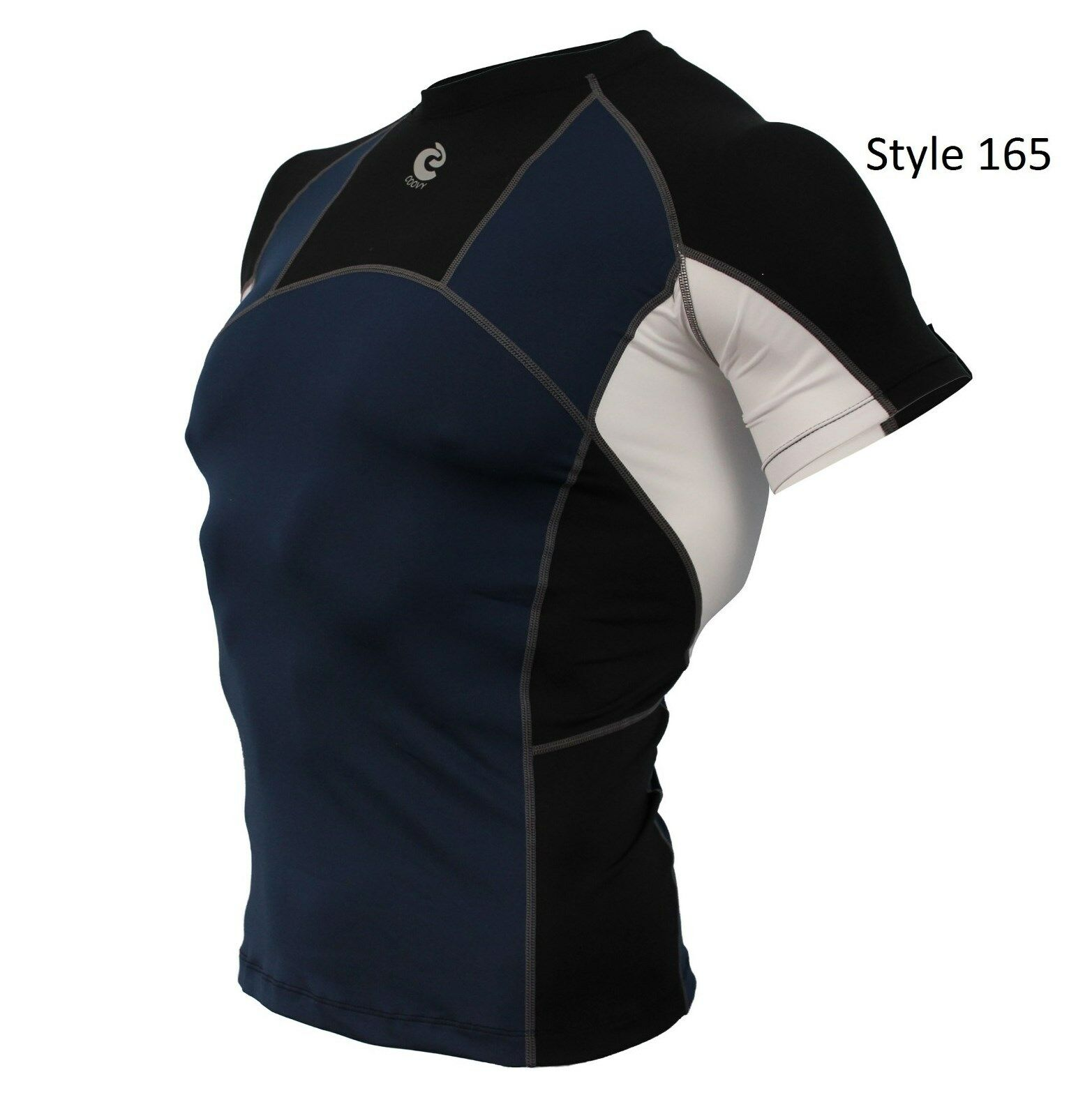 165 Navy w/Black Short Sleeve Shirt