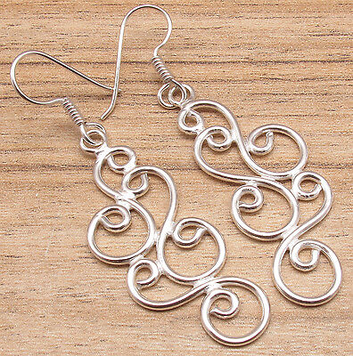 Fashion Long Earrings For Girls ! 925 Silver Plated Over Solid Copper ONLINE BUY - Buy Girl Online