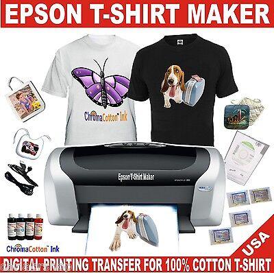 Epson Printer C88 T-shirt Maker Transfer 100 Cotton Ink Complete Starter Pack
