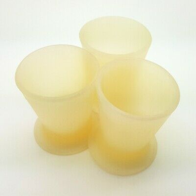 3pcs Dental Lab Silicone Dappen Dish Mixing Bowl Fexible Cup Schuler Germany