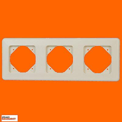 Abdeckung Creme (Kopp Abdeckrahmen Rahmen Abdeckung Europa dreifach 3 fach creme-weiß weiss Neu)