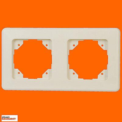 Abdeckung Creme (Kopp Abdeckrahmen Abdeckung Rahmen Europa zweifach 2fach creme-weiß weiss NEU)