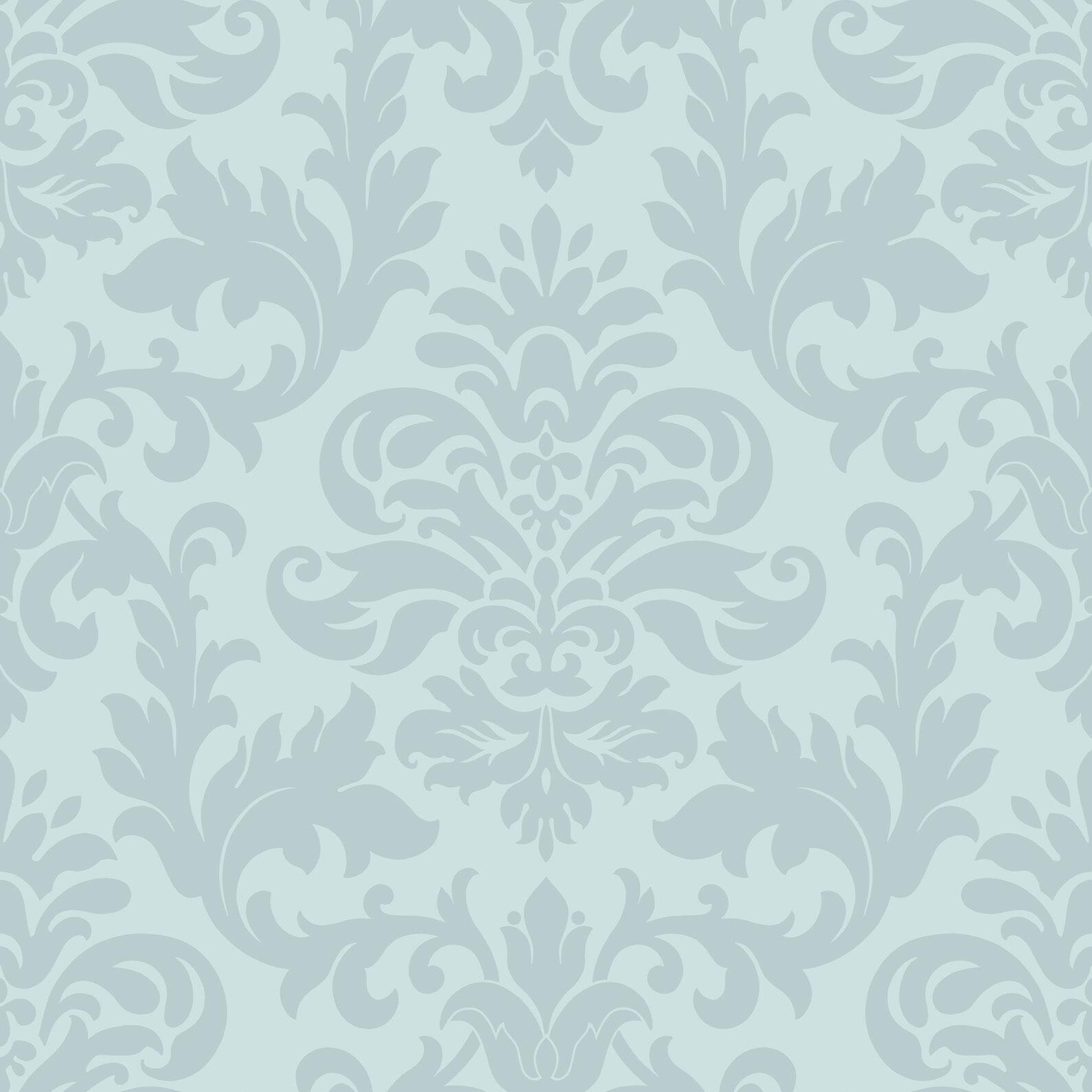 Duck Egg Blue Teal Damask Pattern Designer Feature