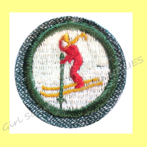 SKIER, WINTER SPORTS 1947 ONLY Girl Scout Badge RARE Snow Boarding NEW Combine