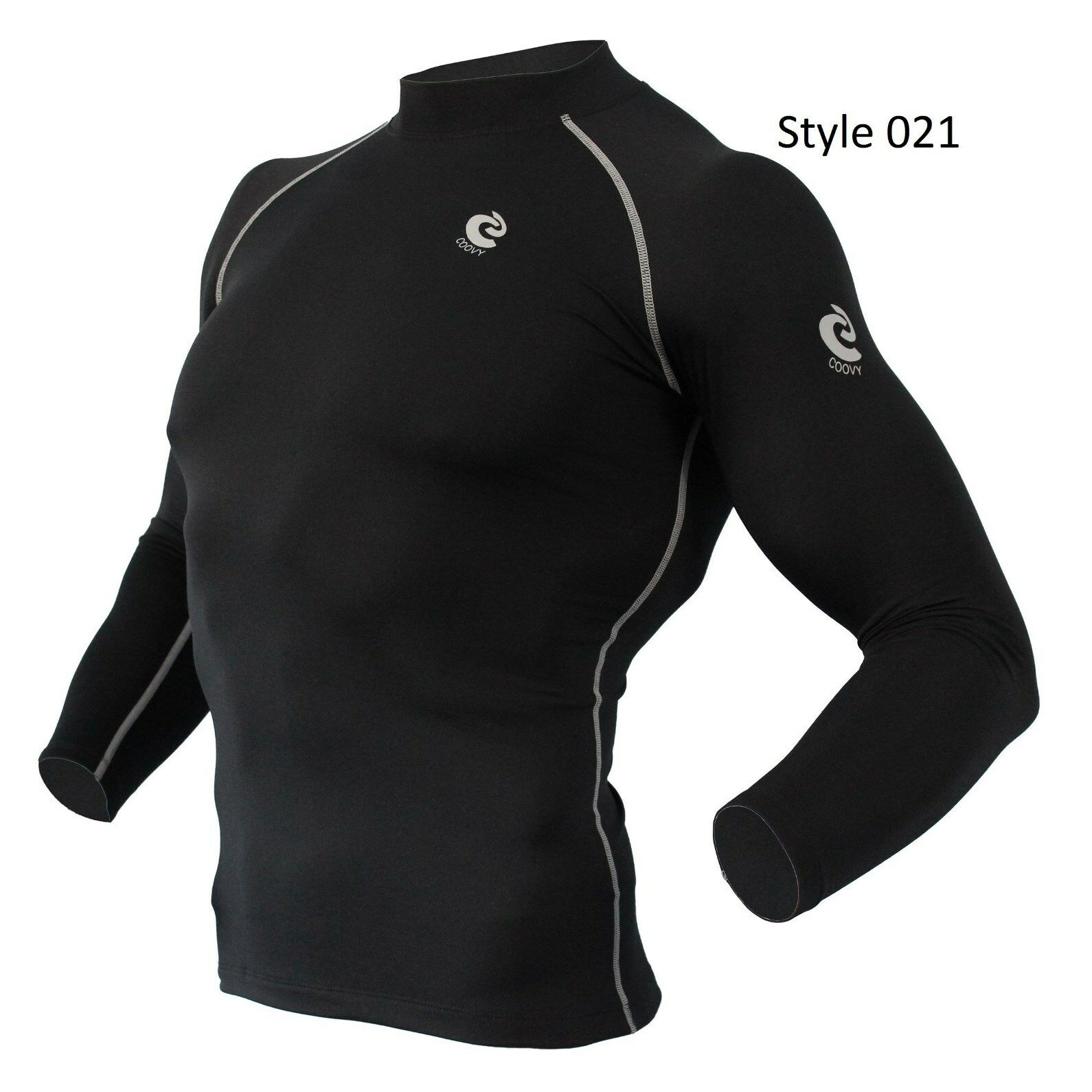 021 Black Thermal Winter Long Sleeve Shirt
