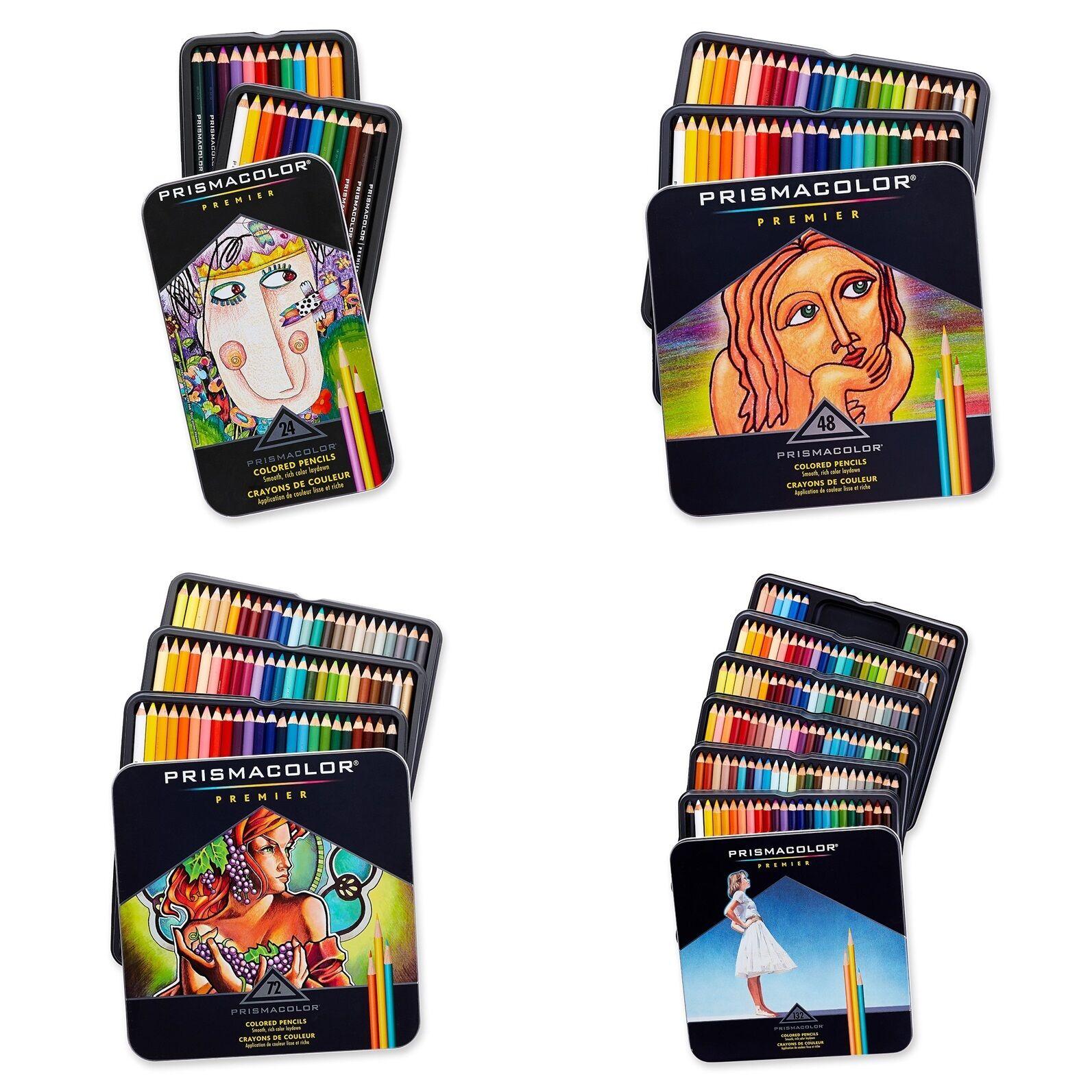 Prismacolor Premier Colored Pencils Soft Core, 24, 48, 72, 1