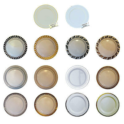40 Plastic Party Plates Disposable Dinner Wedding Dishes China Design- FREE SHIP - Dinner Party Plates