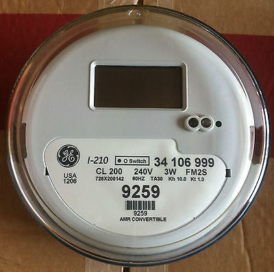 General Electric Ge - Watthour Meter Kwh Model I-210 240 Volts 200a Fm2s