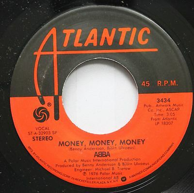 Pop Nm! 45 Abba - Money, Money, Money / Crazy World On Atlantic