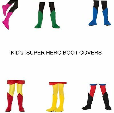 Superhero Boot Top Shoe Covers Be Your Own Hero  Unisex Cosplay KIDs Bx 214