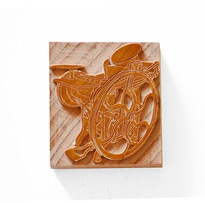 Letterpress Chandler Price Press - Wood Type 12 X 13 Line 508 X 55 Mm