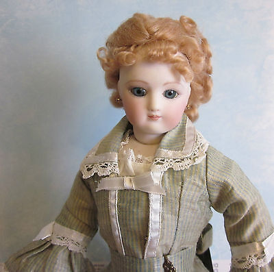Blonde or Brown French Fashion doll mohair wig Sz 9