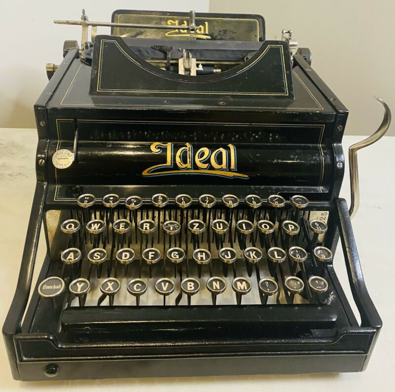 Antique early Ideal Typewriter A2 Refreshed Beautiful!