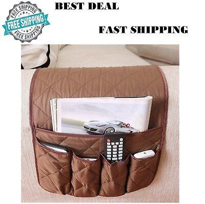 Remote Control Caddy Arm Chair Holder Storage Organizer Armrest Couch Pocket