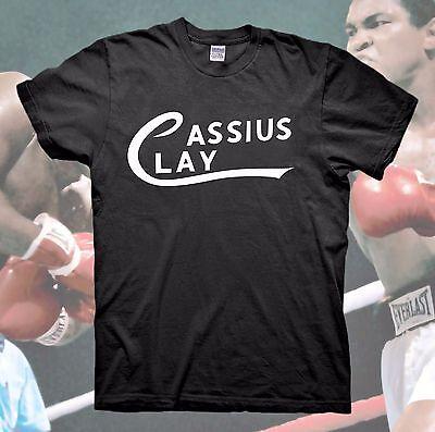Muhammad Ali T Shirt Cassius Clay Logo The Greatest Boxing Vintage Retro Rip New