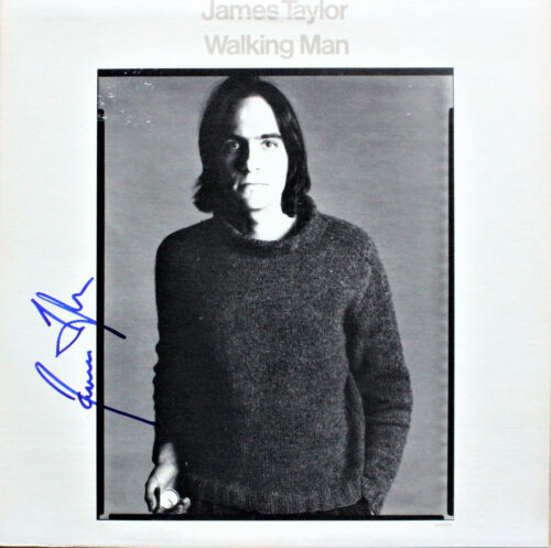 James Taylor SIGNED AUTOGRAPHED RECORD Walking Man