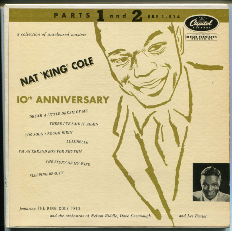 NAT KING COLE Signed Capitol 10th Anniversary 45RPM Album A Little Dream PSA/DNA