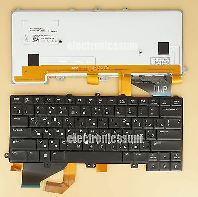 For DELL Alienware 14 PK130US1B04 081Y9P Laptop Keyboard Russian & US, Backlit