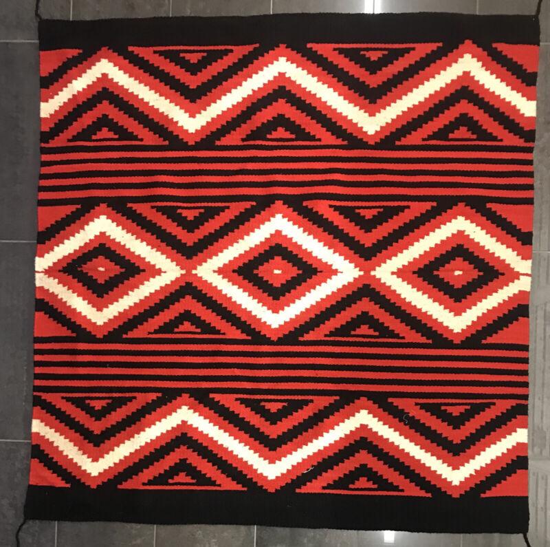 Navajo Style Woven Wool Wall Hanging  5' X  5' Rug