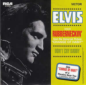 ELVIS-PRESLEY-Rubberneckin-Dont-Cry-Daddy-PICTURE-SLEEVE-RED-VINYL-7-45-NEW