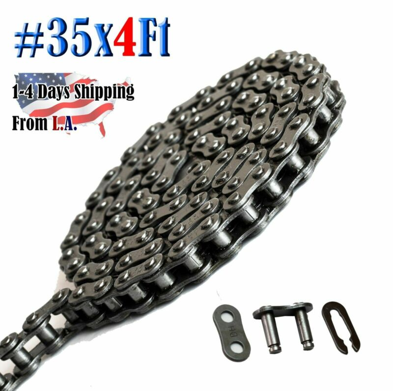 #35 Roller Chain 4 Feet with 1 Connecting Link