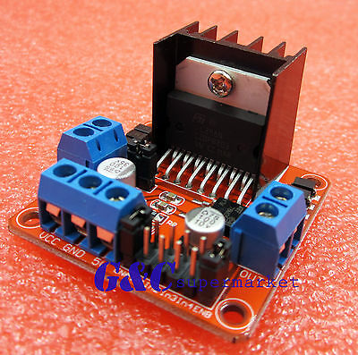 Dual H For Arduino Control Dc Stepper Driver Motor Bridge Board L298n Red M12