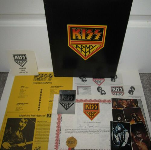 KISS ARMY KIT CASABLANCA RECORDS ROCK STEADY AUCOIN VINTAGE LOVEGUN 1977