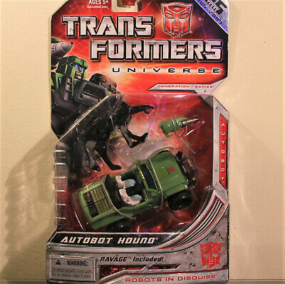Transformers Universe G1 Series Autobot HOUND w/ RAVAGE, Deluxe Class, MOSC/New