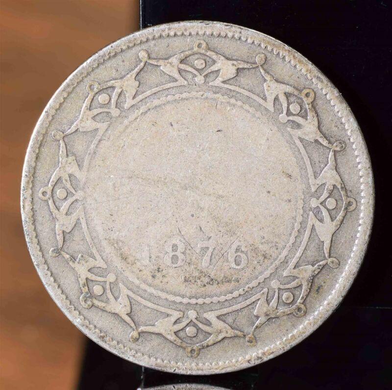 1876-H Newfoundland Silver 50 Cents KM#6 $18