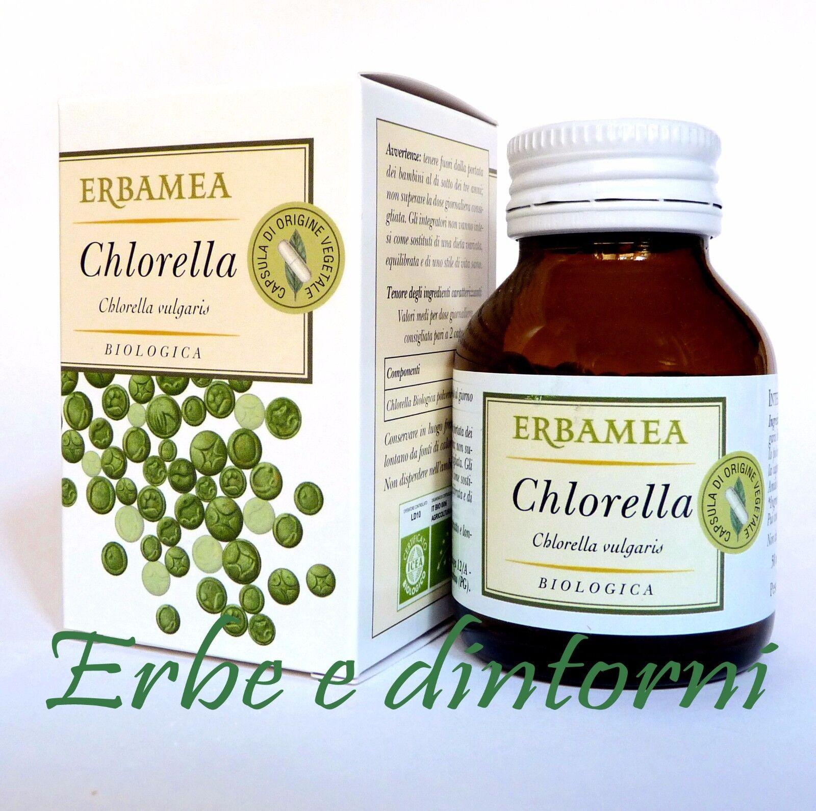 ALGA CHLORELLA Clorella BIOLOGICA 50 capsule - Difese immunitarie, depurazione