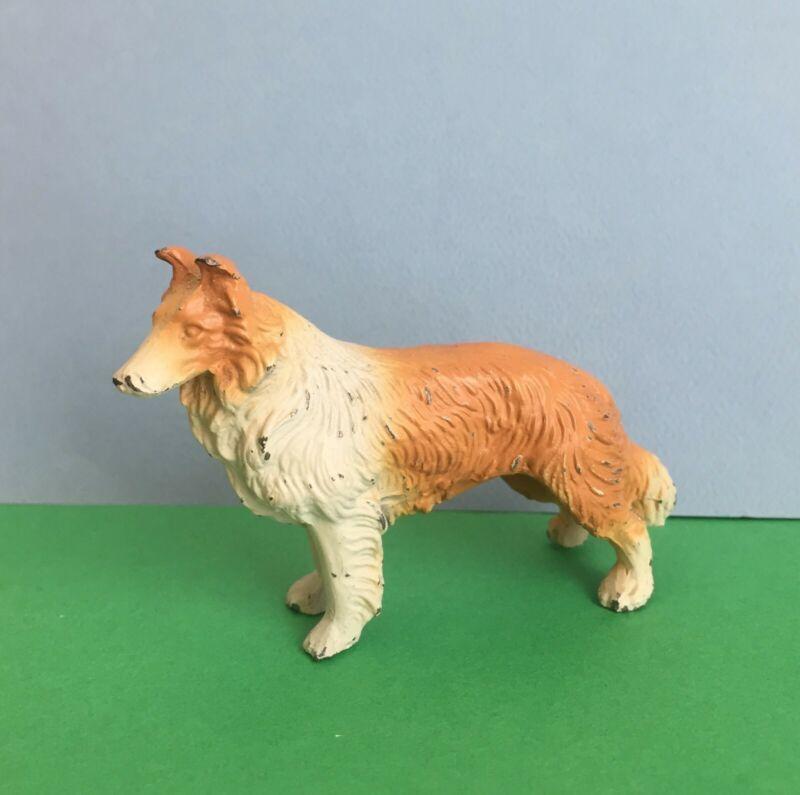 Vintage Small Metal Collie Dog Nice Paint