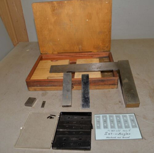 Heavy duty machinist made square & parallel vintage machine shop inspection lot