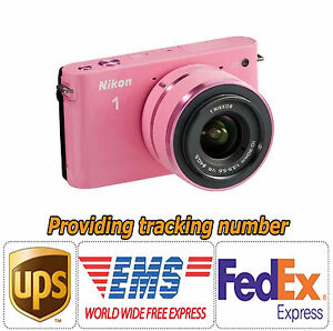 Nikon J1 10.1 MP Digital Camera Pink (VR 10-30mm lens Kit) ★Super Save Item★NEW★
