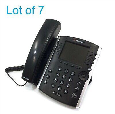 Lot Of 7 Polycom Vvx400 Vvx410 Vvx11 Voip Business Phones W Handset And Base