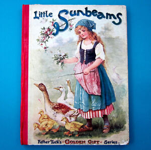 Antique LITTLE SUNBEAMS Children's Raphael Tuck England Father Tuck's Series